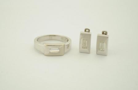 комплект 2 части - бяло злато